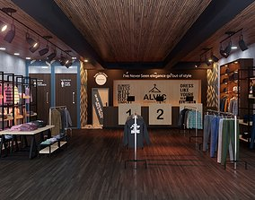 Apparel Clothing Store interior design 3D model