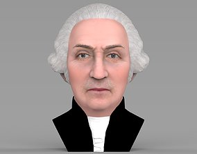 George Washington bust ready for full color 3D printing