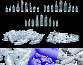 3D asset low-poly Plastic bottle