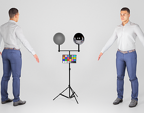 3D asset Handsome man in office style ready for animation