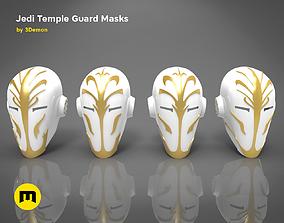 4 Jedi Temple Guard Masks 3D print model