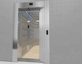 Adjustable and Rigged Elevator With Window 3D animated