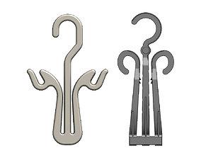 Plastic hook hangers for packaging 3D printable model