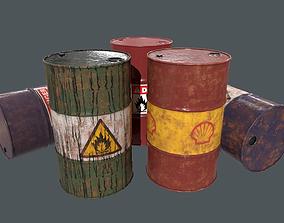 3D model Metal Barrel PBR Game Ready