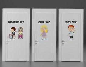 3D model child wc doors