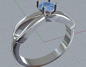 3D printable model engagement ring infinity