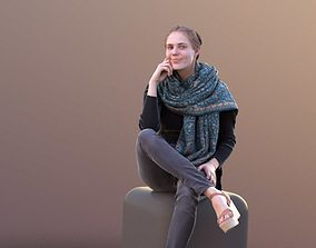 Marie 10401 - Sitting Casual Girl 3D model