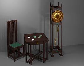 Furniture set in Glasgo-style 3D model
