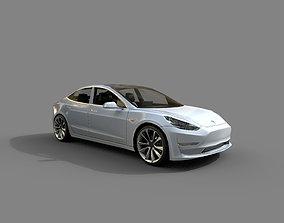 low-poly Low Poly Car - Tesla Model 3 2018