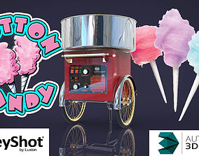 Sweet cotton candy 3D model various