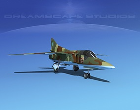 3D model rigged Mig-27 Flogger LP Ukraine