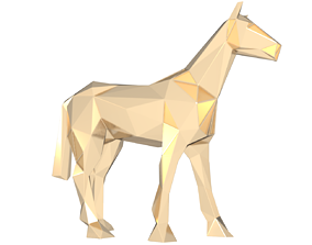 Polygonal Horse Parametric 3D print model