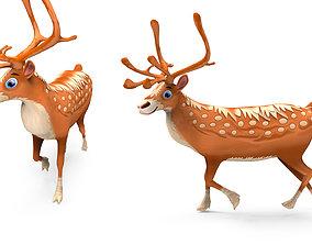realtime Cartoon elk reindeer Model Toon