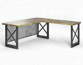 The carruca desk by Iron Age Office 3D model