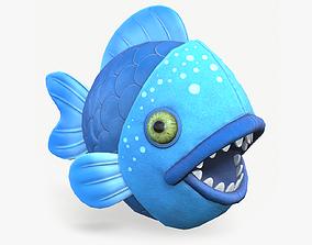 3D model Piranha fish toy