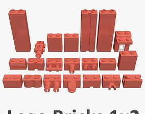 Lego Bricks 1x2 3D