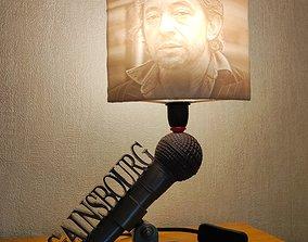 Lampe Serge Gainsbourg et litophane 3D printable model