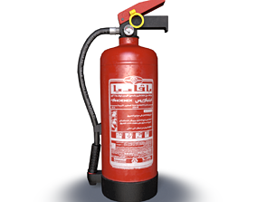 industrial fire extinguisher 3D asset game-ready PBR