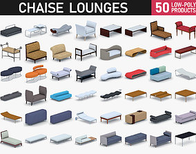 Chaise Lounge Chairs Collection 3D asset