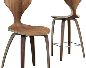 3D Norman Cherner chairs