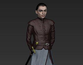 Arya Stark Game of Thrones ready for full color 3D