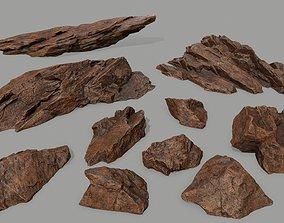 3D model desert rock 3