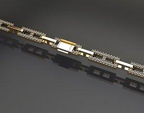 Dainty Hermes Link Style Diamond 3D printable model 1