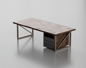 wooden 3D model Wooden Table