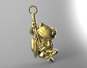 3D printable model nature Frog pendant