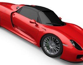 3D asset Porsche 918 Spider