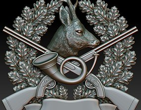 Hunting badge Roe Deer 3D