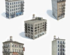 5 Apartment Buildings Collection 3D model