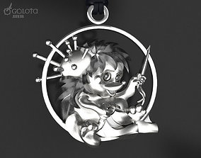 3D print model Hedgehog-seamstress original pendant