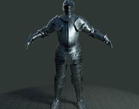 Medieval armor set 001 3D asset