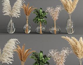 leaves 3D Bouquet 03