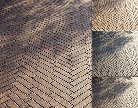 Clinker paving slabs Type 6 3D model PBR