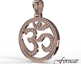 3D printable model OM Pendant with stones