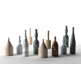 Omaggio a Morandi Decorative Bottles 3D model