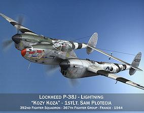 3D model Lockheed P-38 Lightning - Kozy Koza