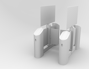 3D asset rigged turnstile