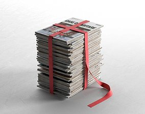 3D model Book Stool