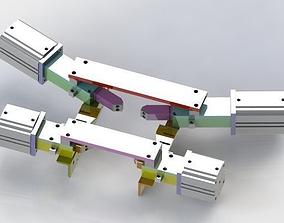 Cylinder position mechanism making 3D model