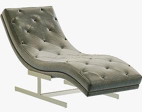 3D model RH Modern Royce Leather Chaise