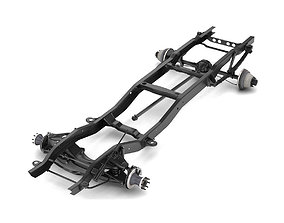 3D model PICKUP TRUCK CHASSIS 2WD DUALLY