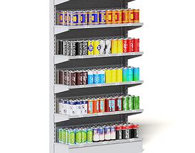 Market Shelf 3D Model - Canned Drinks
