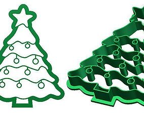 Christmas tree Cookie Cutter 3D print model