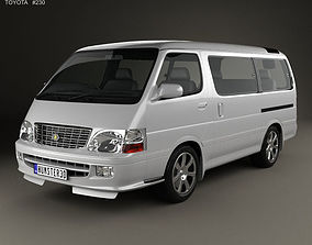 Toyota Hiace Passenger Van JP 1999 3D model