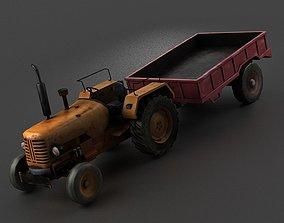 Farm vehicles tractors four-wheel vehicles dump 3D
