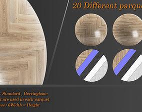 3D asset Collection Parquet 01