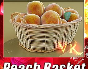 3D Peaches in Basket
